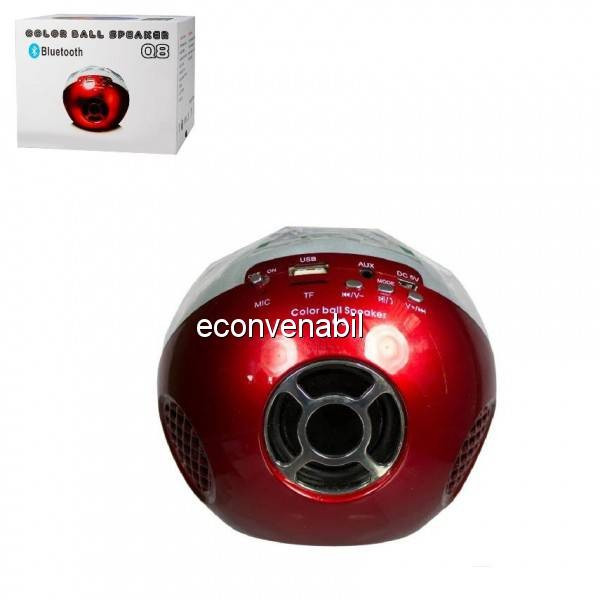 Mini Boxa Portabila cu Bluetooth MP3 si Radio FM Color Ball Speaker Q8 foto mare
