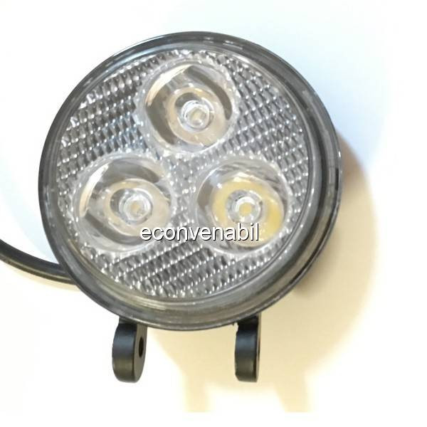 Proiector LED Auto Offroad 3 LEDuri 9W 12V/24V Rotund foto mare