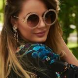 Ochelari de Soare Rotunzi Oversized Brown #2 - Ochelari de soare Versace