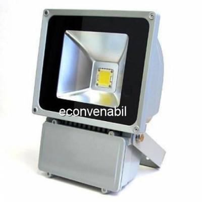 Proiector LED Metalic 80W Alb Rece 220V foto
