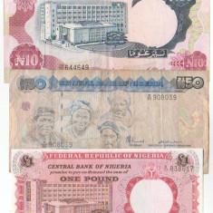 Lot bancnote Nigeria, circulate