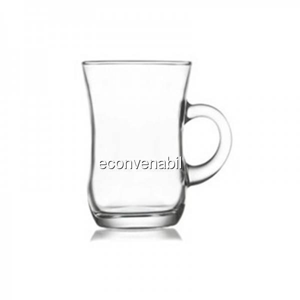 Pahar pentru ceai sticla 72 piese Yudum 402 95ml foto mare