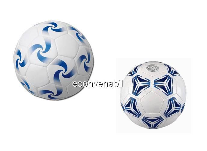 Minge de fotbal din piele sintetica gonflabila foto mare