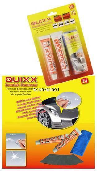 Kit pentru indepartarea zgarieturilor quixx scratch remover foto mare