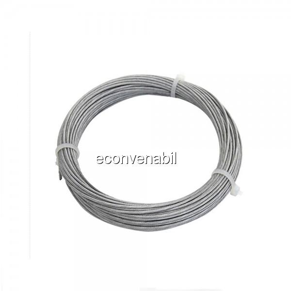 Cablu Tractiune Otel 2mm Rola 100m foto mare