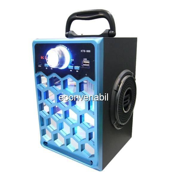 Boxa Portabila cu Bluetooth, Radio FM, USB, TF Card si AUX KTS866 foto mare