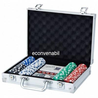 Set de poker 200 Chipuri in Cutie Aluminiu tip Servieta foto