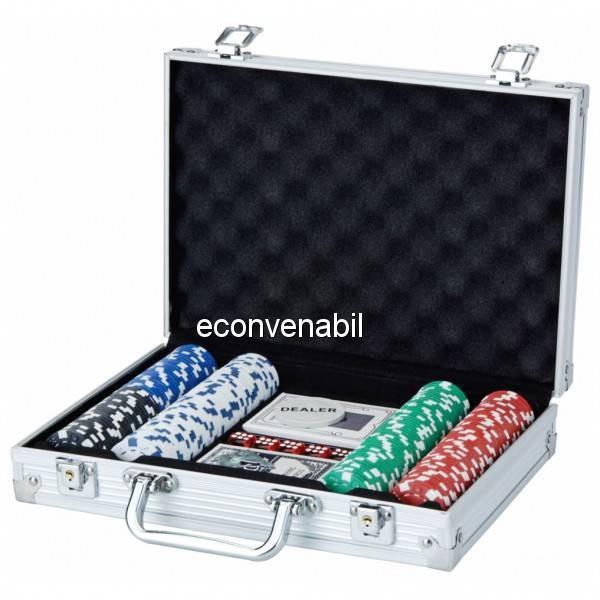Set de poker 200 Chipuri in Cutie Aluminiu tip Servieta foto mare