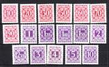 AUSTRIA 1949 -1951 TIMBRE PORTO   - 17 VALORI NESTAMPILATE, Nestampilat