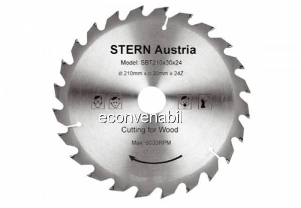 Disc taiere lemn pentru Fierastrau Circular Stern SBT160/24 foto mare