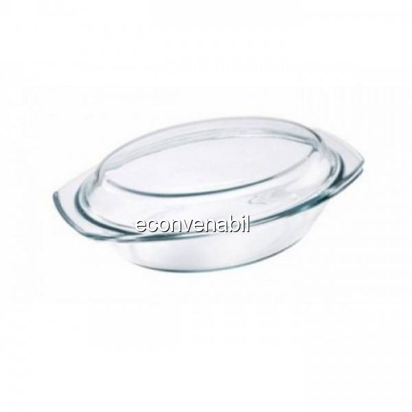 Vas termorezistent oval 2.5L Vabene VB3020011 foto mare