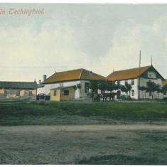 3886 - Dobrogea, TECHIRGHIOL - old postcard - used, Circulata, Printata