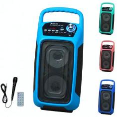 SISTEM BOXA ACTIVA KARAOKE,MIXER INCLUS,MP3 PLAYER USB,TELECOMANDA,BLUETOOTH.NOU