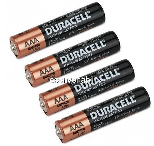 Duracell set 4 baterii LR03 tip AAA foto mare