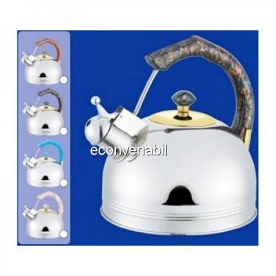 Ceainic din inox cu fluier Bohmann BHL655MRB 3L foto