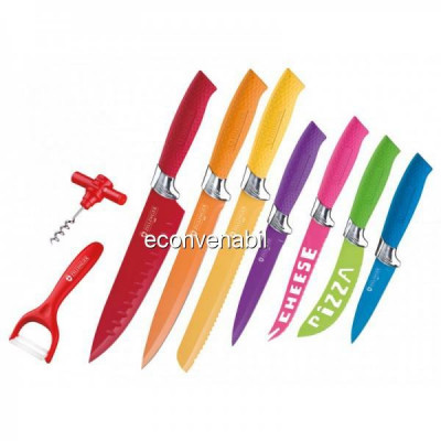 Set cutite bucatarie colorate 9 piese Zilinger ZL736 foto