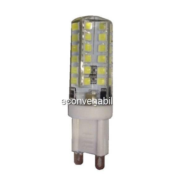 Bec LED 3W 48LED SMD Bulb 220V G9 Alb Rece foto mare