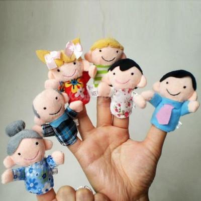 Mascote degete mascote set 6 papusi degete teatru papusi jucarii educative logo foto