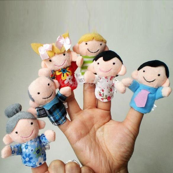 Mascote degete mascote set 6 papusi degete teatru papusi jucarii educative logo foto mare
