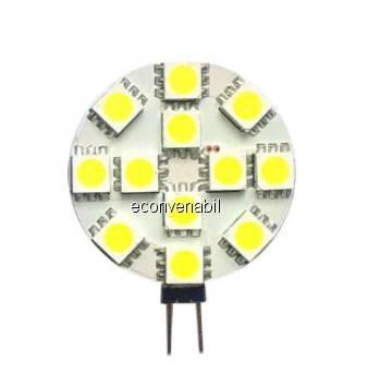 Bec cu LED-uri Bulb 12 LED tip SMD G4 2W Lumina Calda foto mare