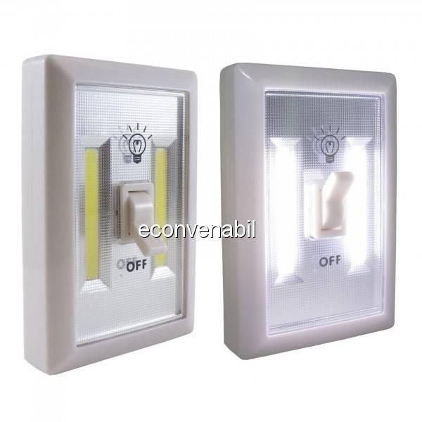 Lanterna 2x 1W COB LED tip Intrerupator Fara Fir pe Baterii SXA01 foto mare