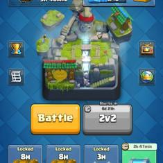 Cont Clash Royale Lvl 10 Arena 10, Alb, <1GB, Neblocat, Dual core, 1 GB