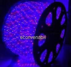 Furtun Luminos cu Banda 4000 LEDuri SMD Rosii si Albastre 100m foto mare