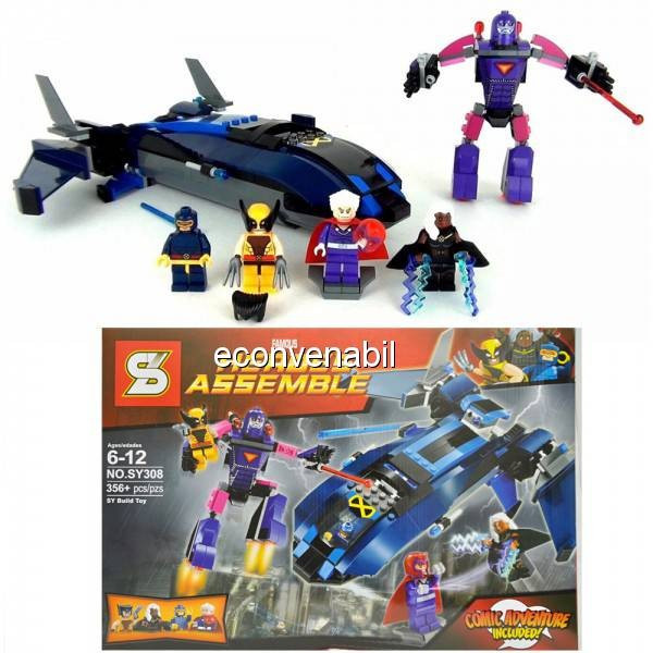 Joc tip Lego Heroes Assemble SY308 356 Piese foto mare