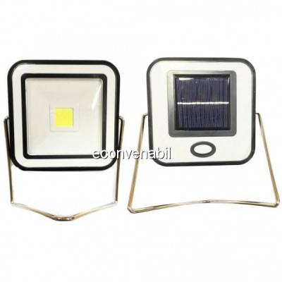 Proiector COB LED 10W Alb Rece Incarcare Panou Solar si USB RYT913 foto