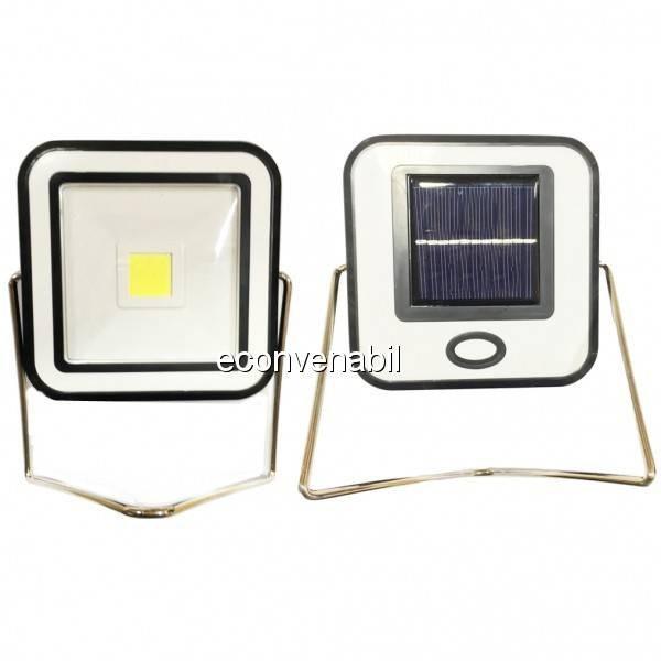 Proiector COB LED 10W Alb Rece Incarcare Panou Solar si USB RYT913 foto mare