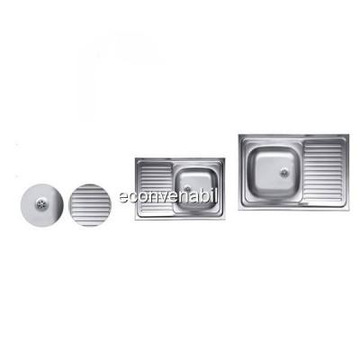 Chiuveta Inox 430 masca anticalcar Sanitec C408 435x760mm foto