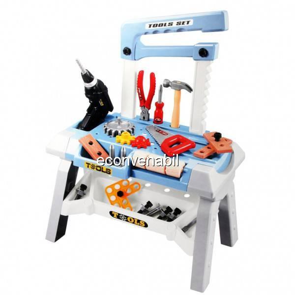 Set de unelte banc de scule Atelier Jucarie Bricolaj Smart Tools T1062 foto mare