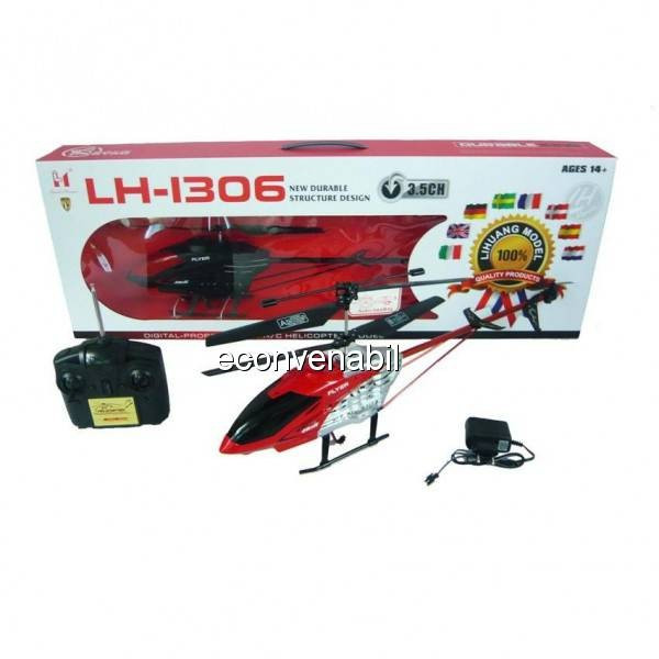 Elicopter cu Gyro 3.5 Canale 60cm Lead Honor LH1306 foto mare