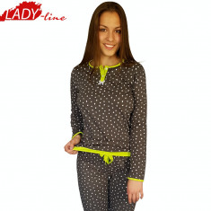 Pijama Dama Maneca/Pantalon Lung, Model I'm In Love, Brand Senso, Cod 1217