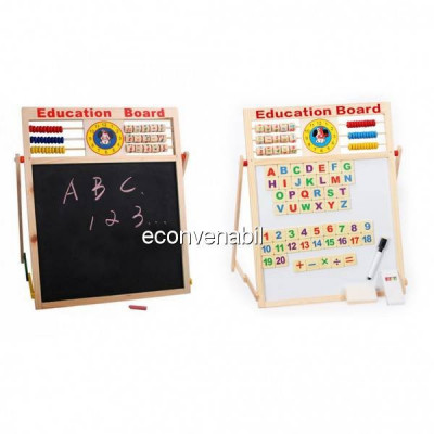 Tabla Magnetica Dubla Educativa Pentru Copii 46x38cm S foto