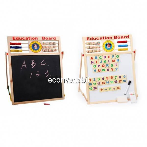 Tabla Magnetica Dubla Educativa Pentru Copii 46x38cm S foto mare