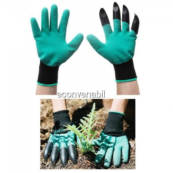 Manusi pentru Gradinarit cu Gheare Garden Genie Gloves foto mare