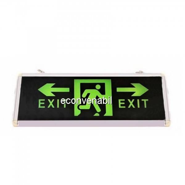Indicator Luminos EXIT Stanga Dreapta LED Acumulator 355x145mm 1Fata WT foto mare