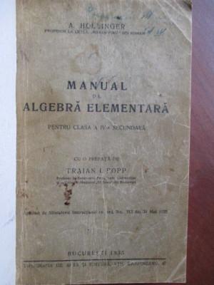 Manual de algebra elementara pentru clasa a IV-a secundara foto
