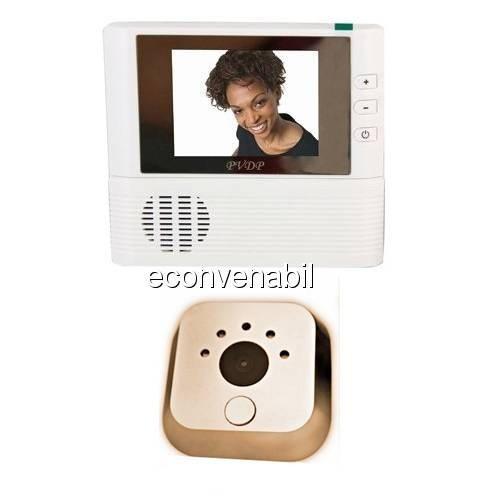 Vizor Usa cu Camera Video, Ecran LCD si Functie de Sonerie foto mare