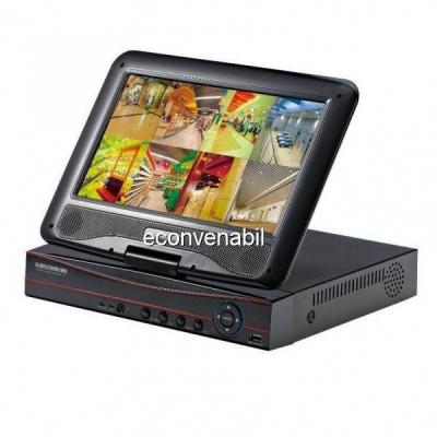 DVR 8 Canale CCTV cu LAN si Monitor LCD 10 Inch pentru 8 Camere Video foto