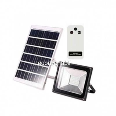 Proiector LED 50W cu Panou Solar si Telecomanda Alb Rece foto