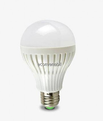 Bec 20 LEDuri Economice cu Radiator E27 9W Alb Cald foto
