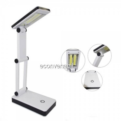 Lampa de birou pliabila 2x3W COB LED Alimentare USB Baterii HGBL018 foto