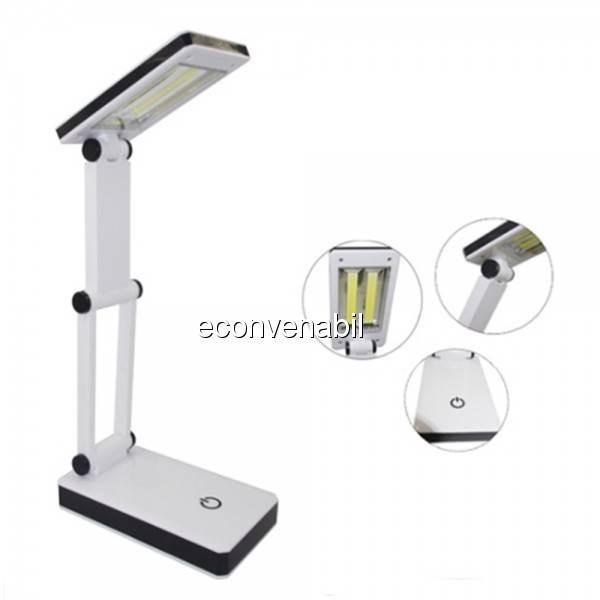 Lampa de birou pliabila 2x3W COB LED Alimentare USB Baterii HGBL018 foto mare