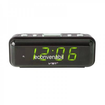 Ceas Digital Display LCD Verde, Alarma si Functie Memorare Ora VST738 foto