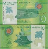 !!!  NICARAGUA  -  10  CORDOBAS  2015  -  P 210  - UNC  // POLIMER