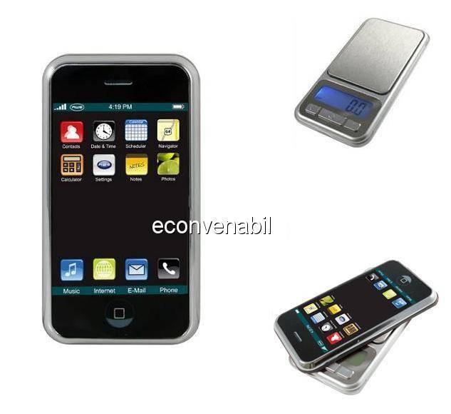 Cantar digital de bijuterii cu display lcd tip iphone foto mare