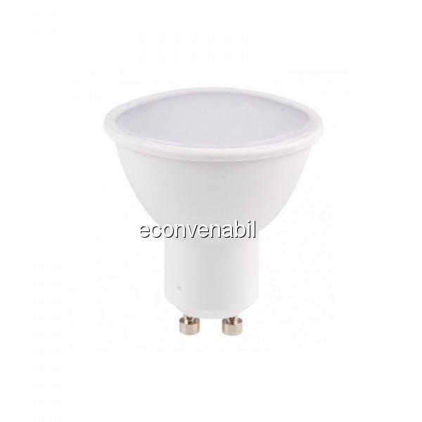Bec LED 5W Alb Cald 3000K Soclu GU10 220V UB60046 foto mare