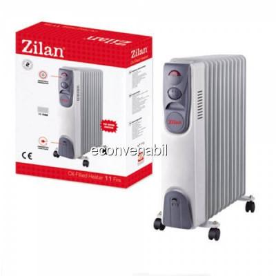 Calorifer Electric Ulei cu Ventilator 11 Elementi Zilan ZLN6805 2500W foto